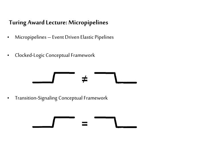Turing Award Lecture: Micropipelines