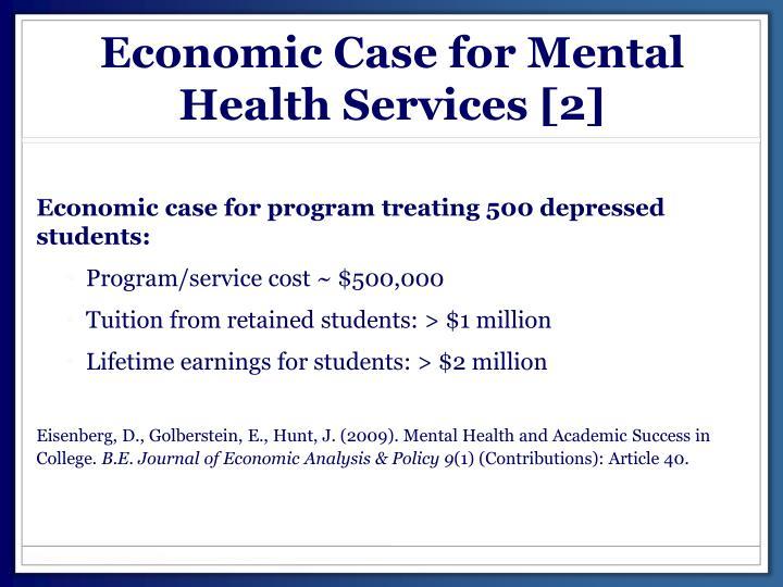 Economic Case for Mental