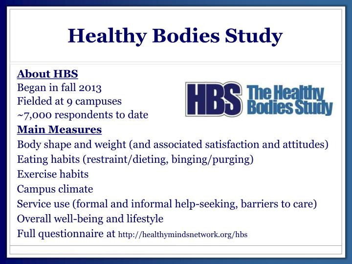 Healthy Bodies Study