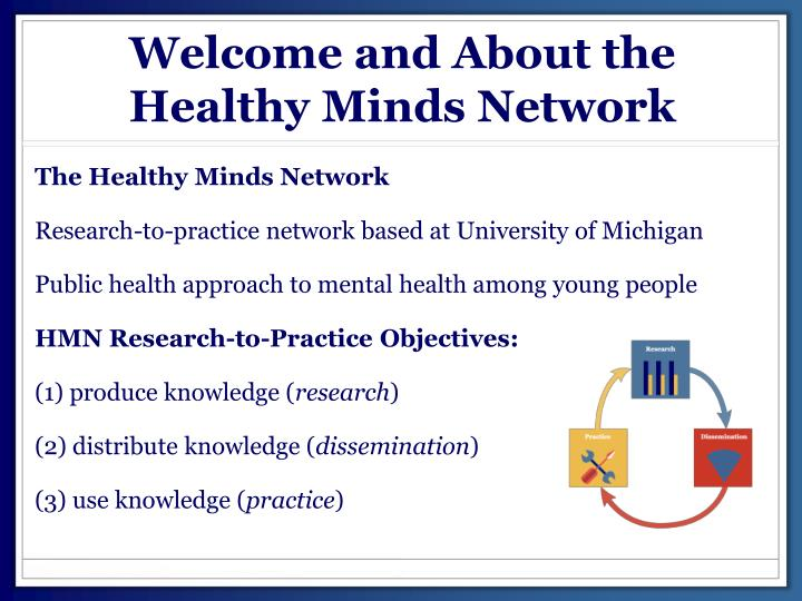 Welcome and About the Healthy Minds Network