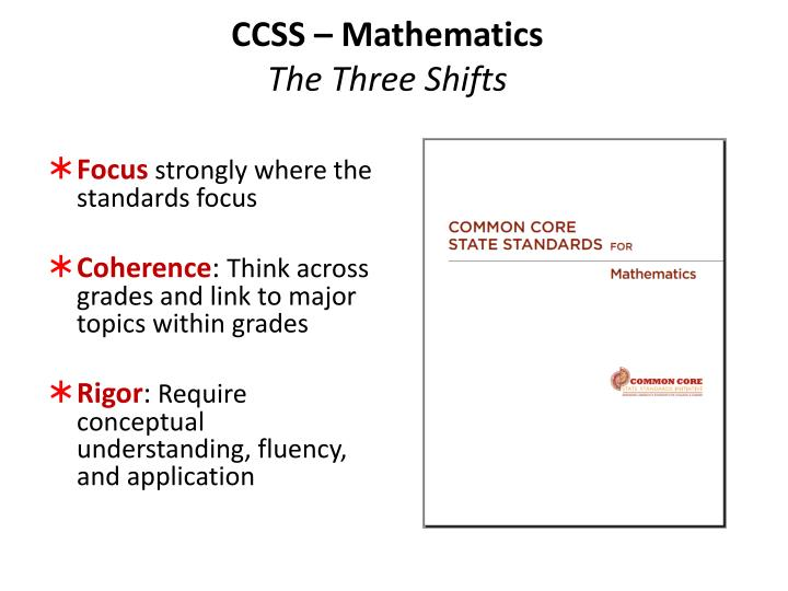 CCSS – Mathematics