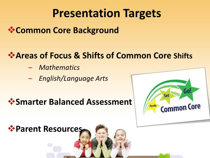 Presentation Targets