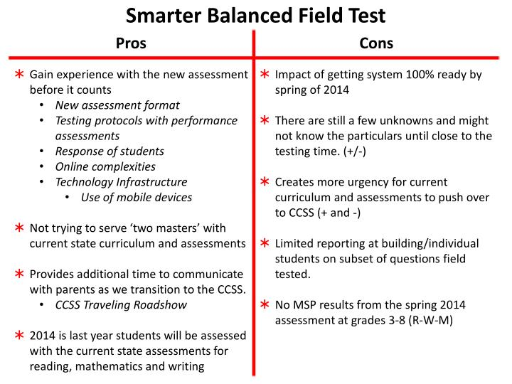 Smarter Balanced Field Test