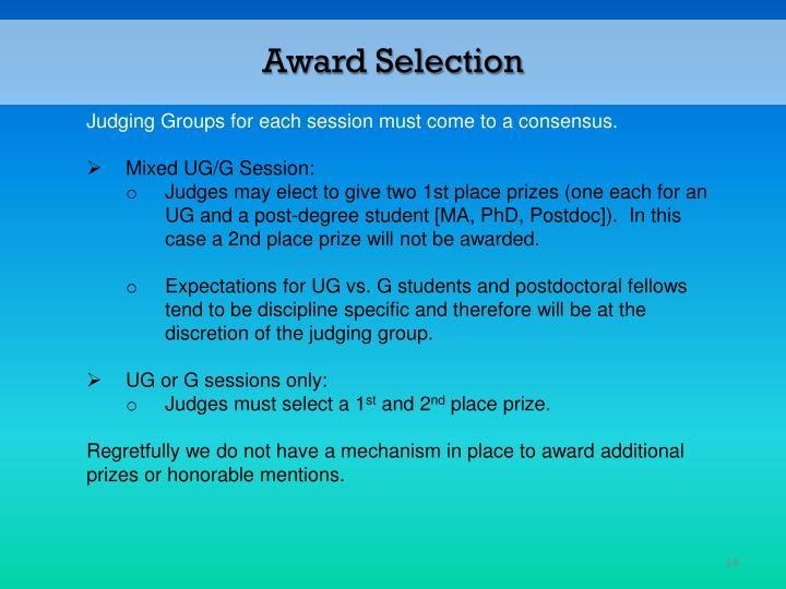 Award Selection