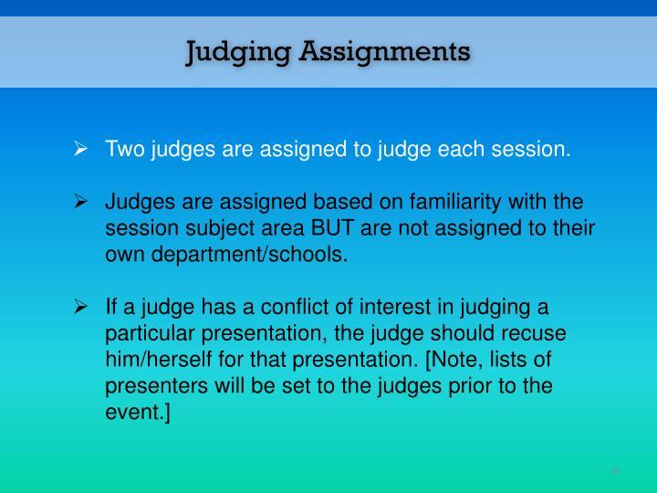 Judging Assignments