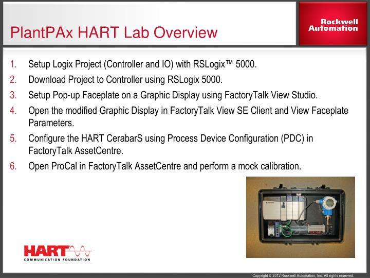 PlantPAx HART Lab Overview