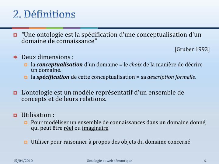 2. Définitions