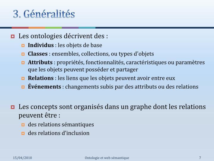 3. Généralités