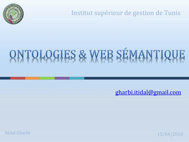 Ontologies web s mantique