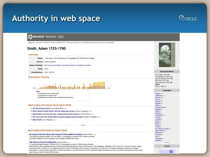Authority in web space