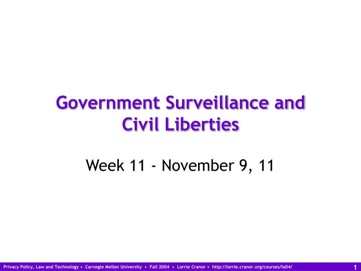 the issues of privacy and governmental survaillance All big issues the instigator con on how monitoring government surveillance will prove to are not over stepping the boundaries of privacy and civil.
