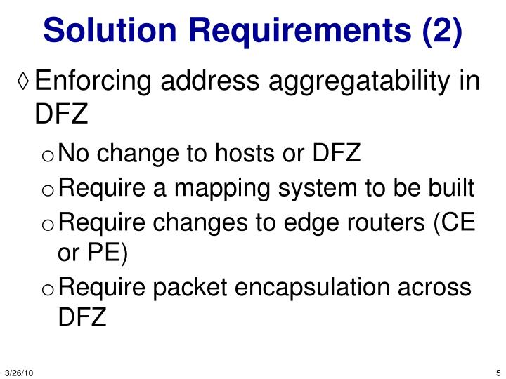 Solution Requirements (2)