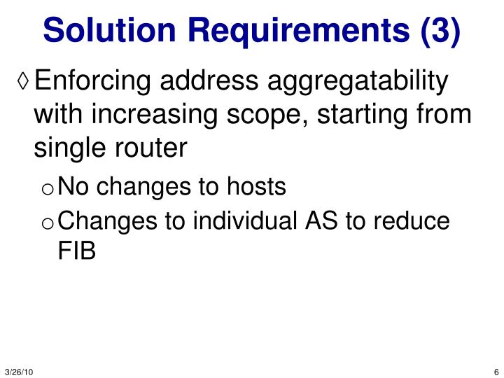 Solution Requirements (3)