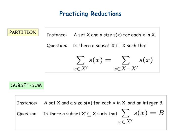 Practicing Reductions