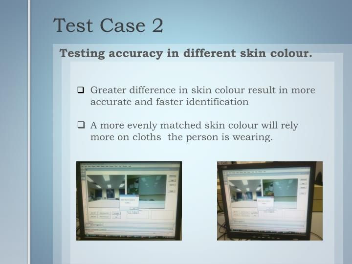 Testing accuracy in different skin colour.