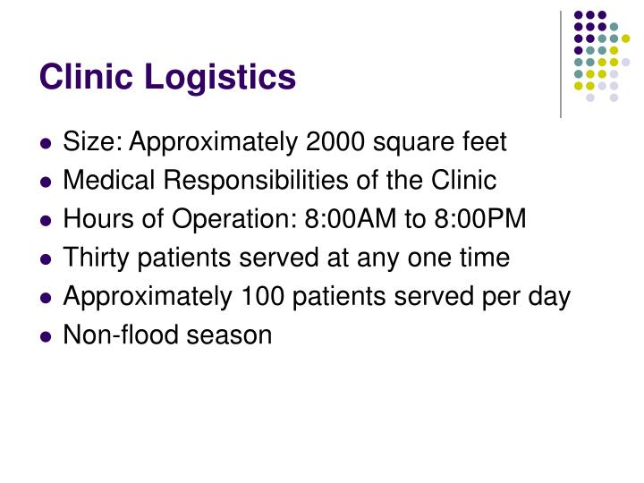 Clinic Logistics