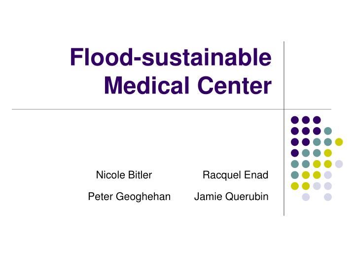 Flood sustainable medical center