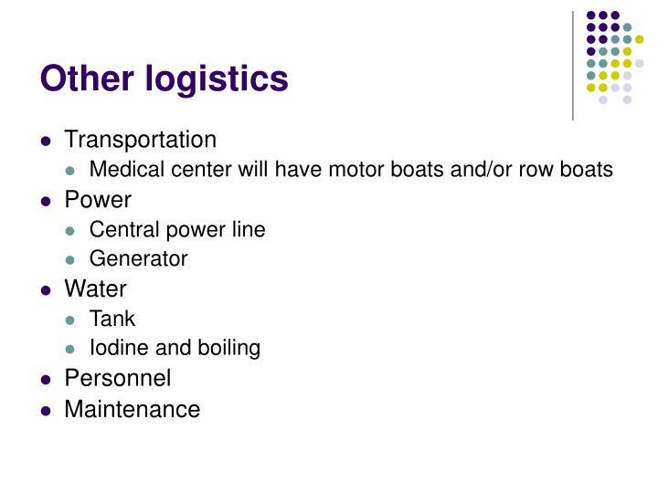 Other logistics