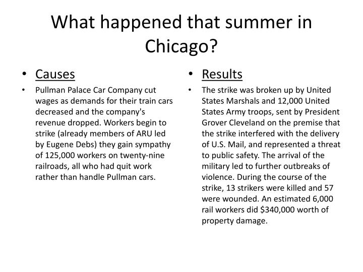 What happened that summer in Chicago?