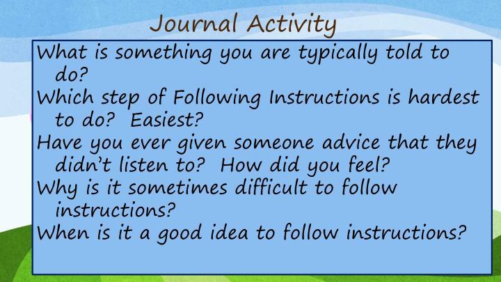 Journal Activity