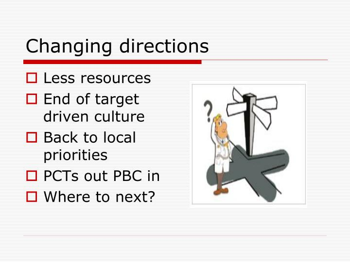 Changing directions