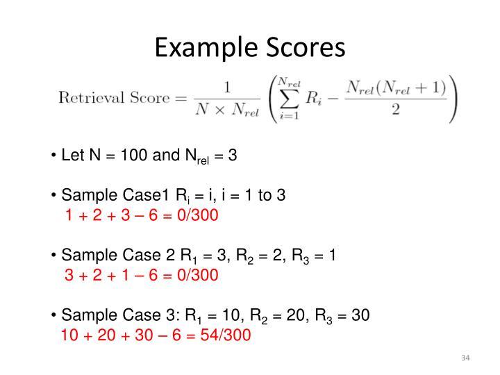 Example Scores