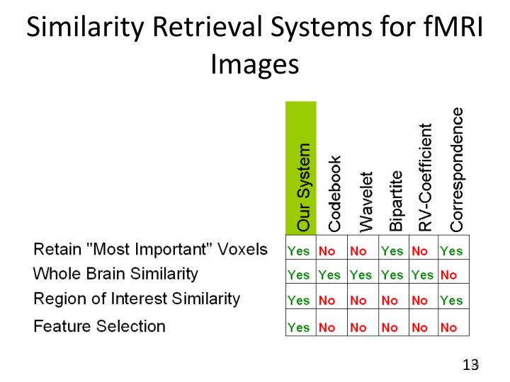 Similarity Retrieval Systems for fMRI Images