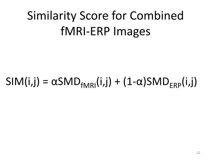 Similarity Score for Combined fMRI-ERP Images