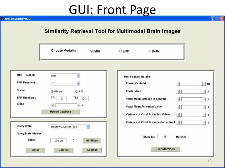 GUI: Front Page
