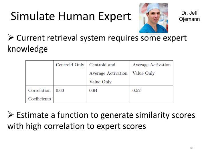Simulate Human Expert