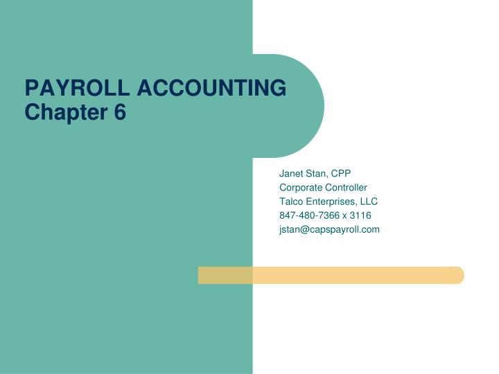 payroll accounting 2012 chapter 7 accounting project