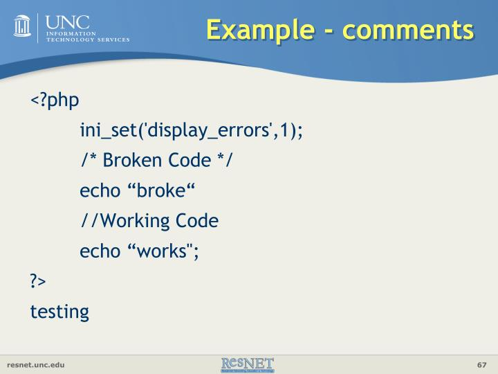 Example - comments