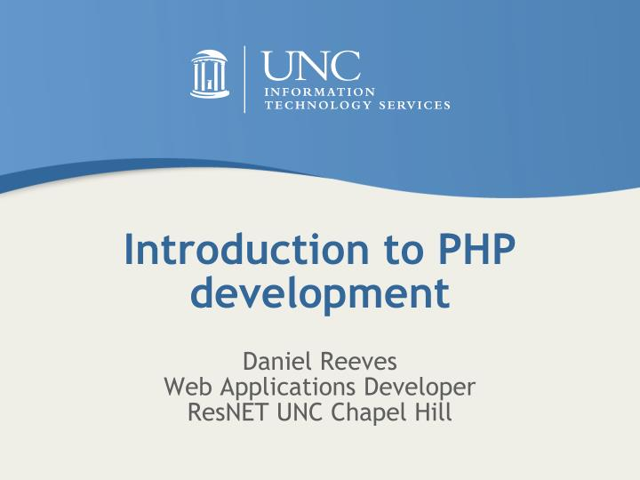 Introduction to php development