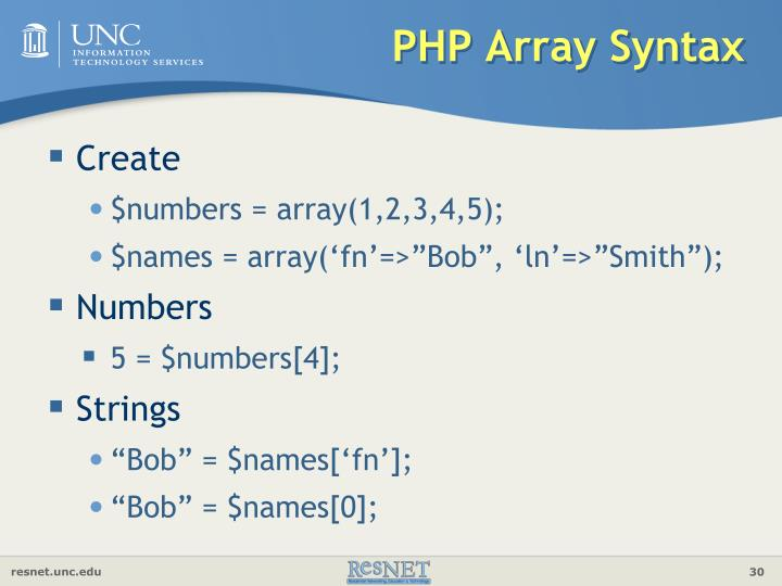 PHP Array Syntax