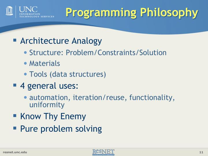 Programming Philosophy