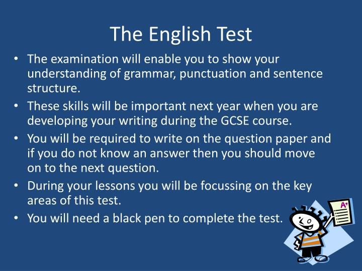 The English Test