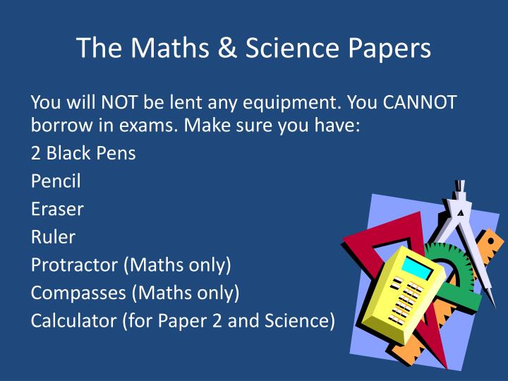 The Maths & Science Papers