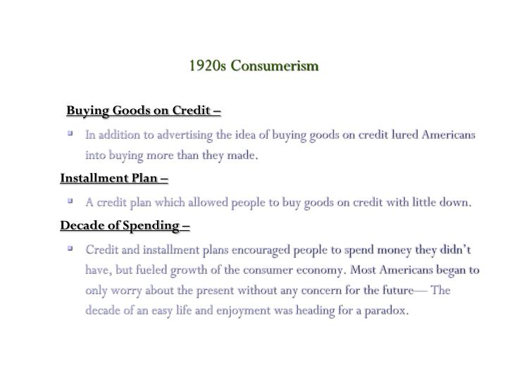 Buying Goods on Credit –