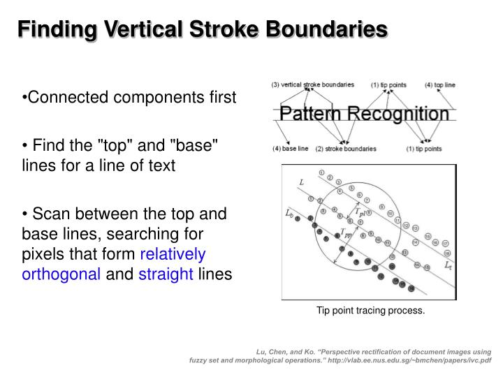 Finding Vertical Stroke Boundaries