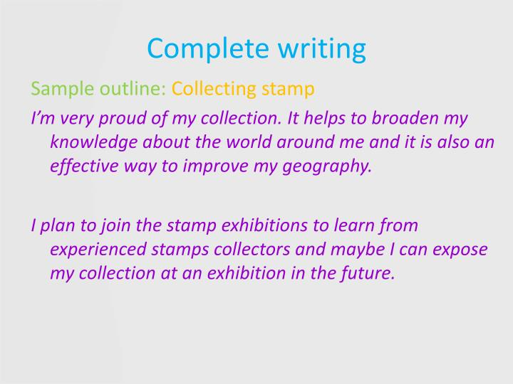 Complete writing