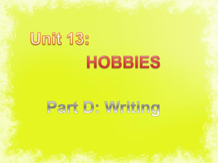 Unit 13: