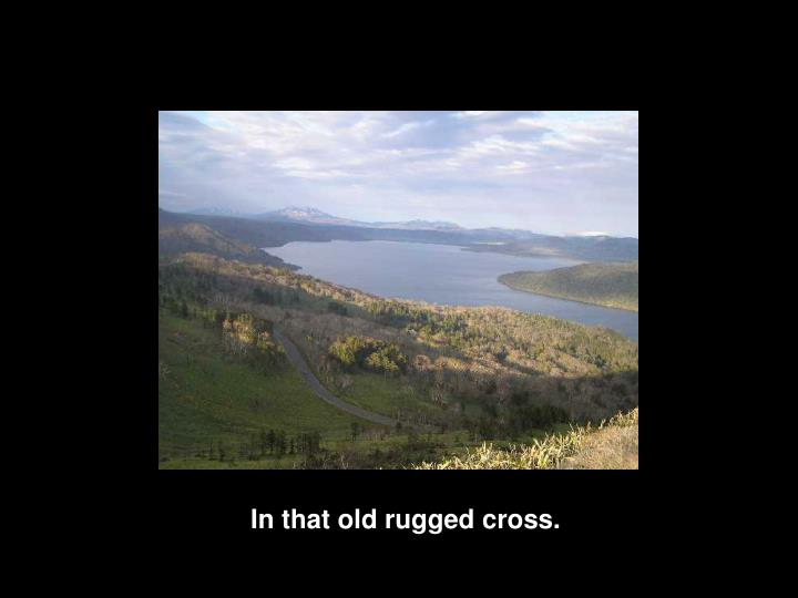 In that old rugged cross