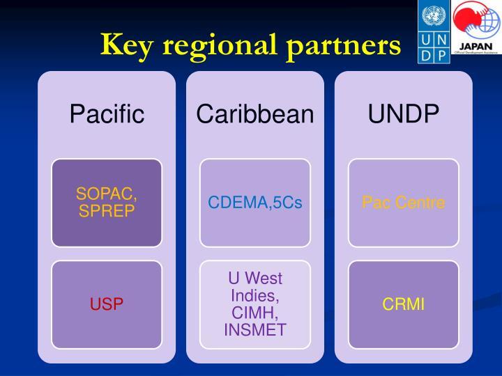 Key regional partners