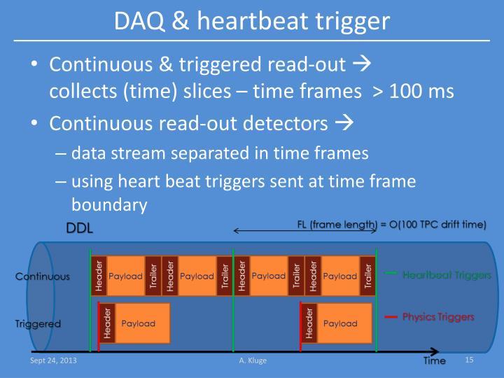 DAQ & heartbeat trigger