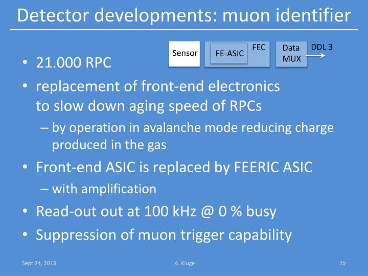 Detector developments: