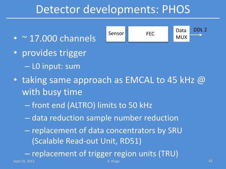 Detector developments: PHOS