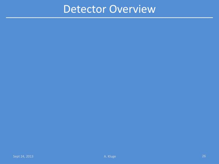 Detector Overview