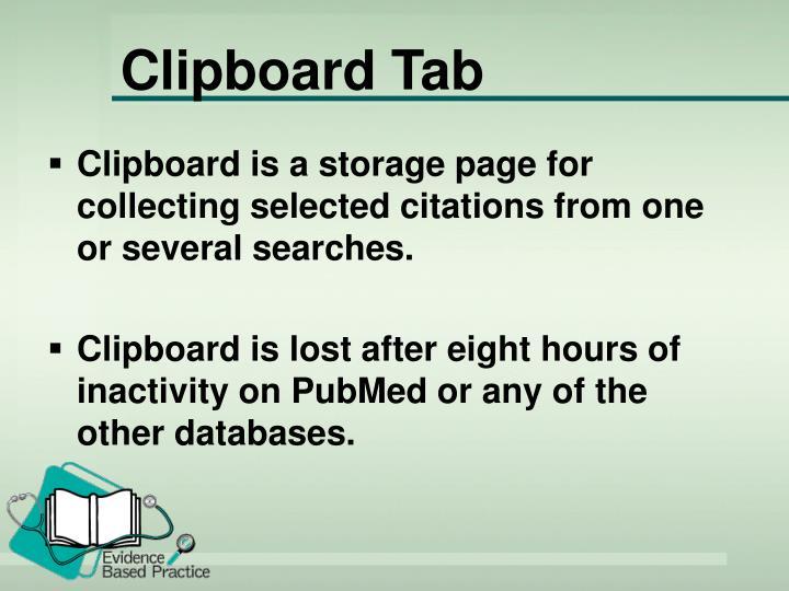 Clipboard Tab