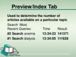 preview index tab