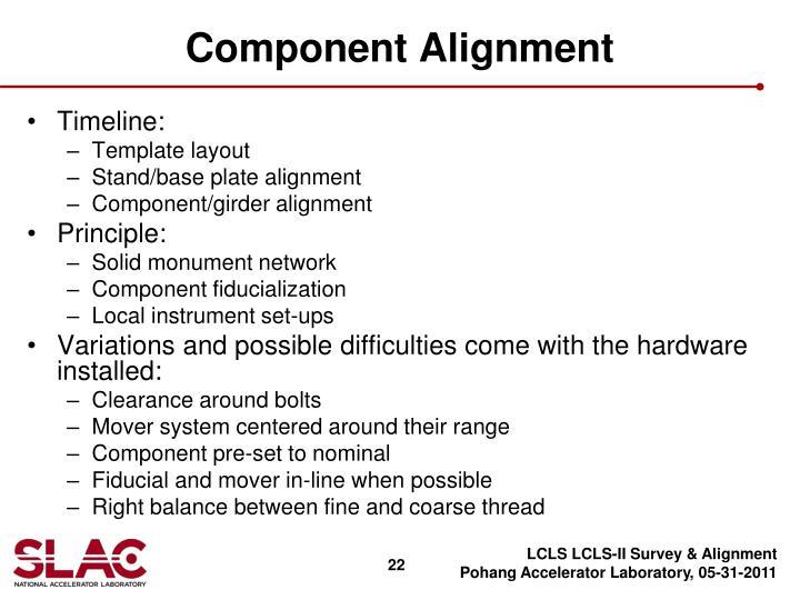 Component Alignment